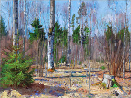 Premiumposter Spring day at the edge of the forest