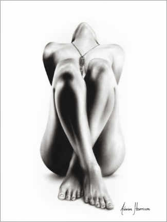 Premiumposter Realistic nude drawing