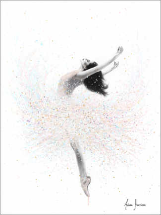 Canvastavla  Ballerina in pastel colors - Ashvin Harrison