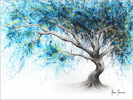 Premiumposter Blue Crystal Dream Tree