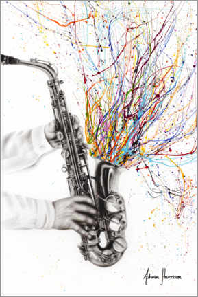 Canvastavla  The Jazz Saxophone - Ashvin Harrison