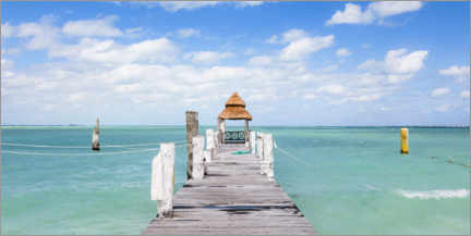 Canvastavla  Jetty on the Caribbean sea - Matteo Colombo