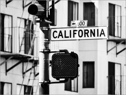 Premiumposter  California road sign - Magda Izzard