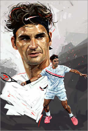 Premiumposter  Roger Federer - Dmitry Belov