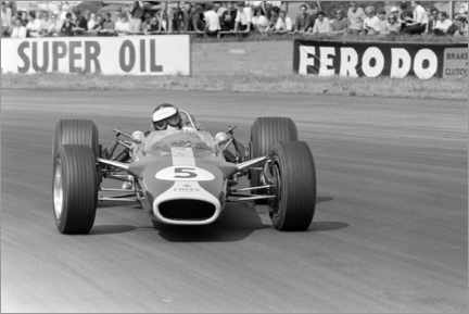 Akrylglastavla  Jim Clark, Lotus 49 Ford, Silverstone UK, 1967