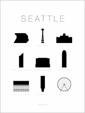 Trätavla  Seattle - Schumff