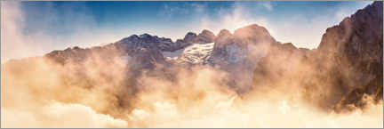 Premiumposter  Dachstein bright to cloudy - Silvio Schoisswohl
