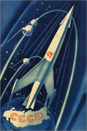 Premiumposter  Soviet space poster - Advertising Collection