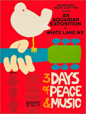 Premiumposter  Woodstock Festival - Entertainment Collection