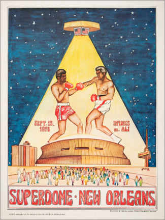 Premiumposter  Boxing tournament in the Superdome - Entertainment Collection