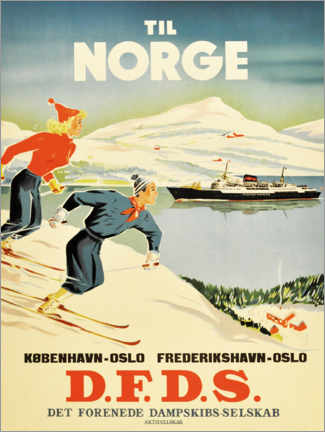 Premiumposter  To Norway - Travel Collection