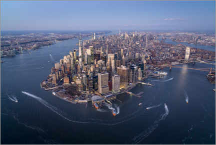 Premiumposter New York City from above