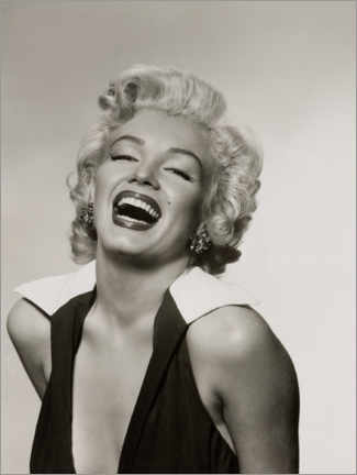 Akrylglastavla  Marilyn with a radiant smile - Celebrity Collection
