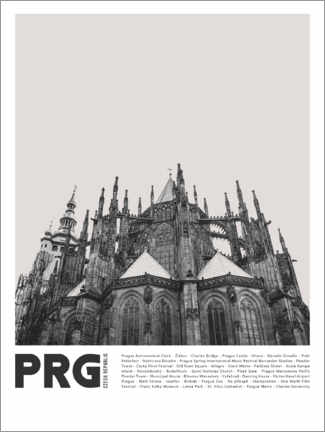 Premiumposter  Sightseeing in Prague II - Finlay and Noa