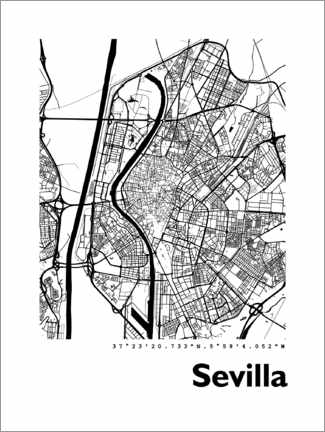 Galleritryck  Map of Seville - 44spaces