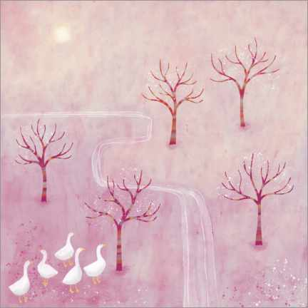 Aluminiumtavla  Geese in the Orchard - Nic Squirrell
