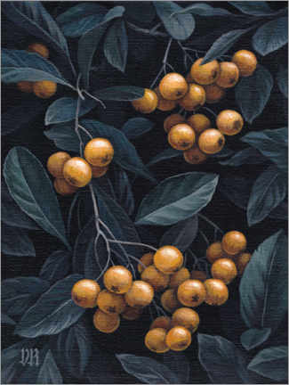 Canvastavla  Firethorn berries - Vasilisa Romanenko