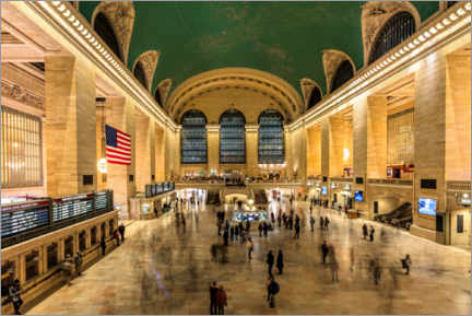 Canvastavla  Grand Central Station in New York - Mike Centioli