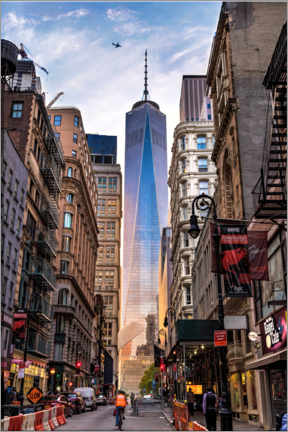 Aluminiumtavla  One World Tower in New York - Mike Centioli
