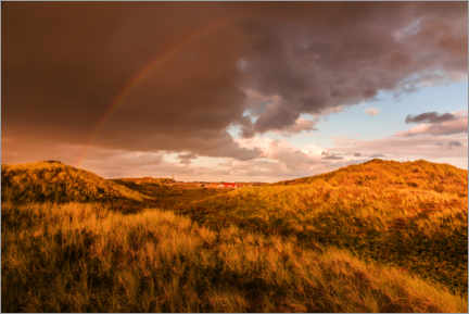 Canvastavla  The end of the rainbow, Sylt - Christian Müringer
