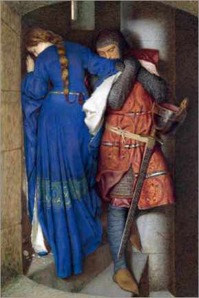 Aluminiumtavla  Meeting on the Turret Stairs - Frederic William Burton