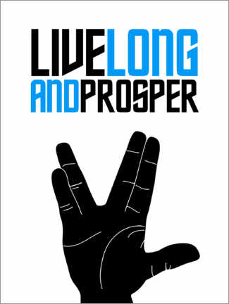 Premiumposter  Live long and prosper - Michael Tarassow