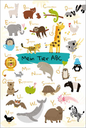 Premiumposter  My animal ABC - Julia Reyelt
