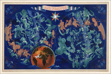 Premiumposter  Celestial chart of the Constellations - Travel Collection
