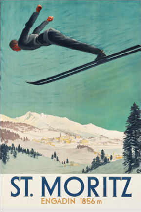 Premiumposter  St. Moritz, Engadine - Travel Collection