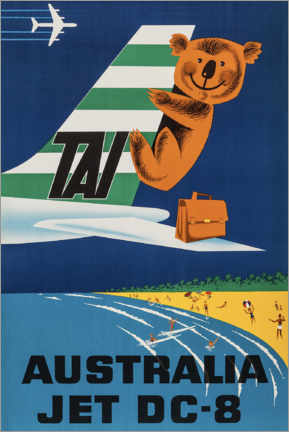 Premiumposter  Australia Jet DC-8 - Travel Collection