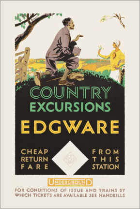 Premiumposter  Country excursions, Egware - Travel Collection