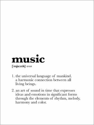 Aluminiumtavla  Music - Definition - Michael Tarassow