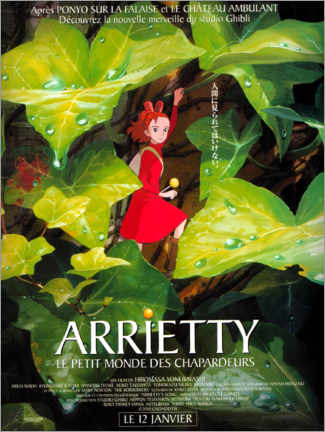 Premiumposter  Arrietty - The wondrous world of the Borger (French) - Entertainment Collection