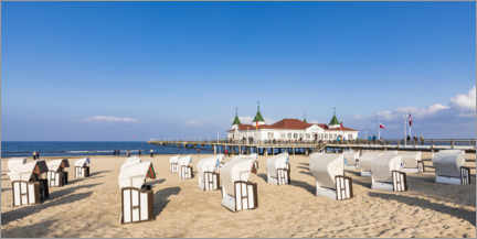 Canvastavla  Historic pier in Ahlbeck, Usedom - Dieterich Fotografie
