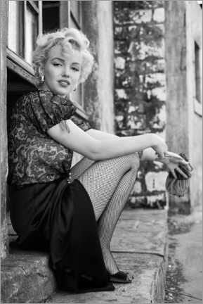 Akrylglastavla  Marilyn in a film break - Celebrity Collection