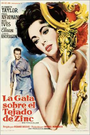 Premiumposter Cat On A Hot Tin Roof (Spanish)