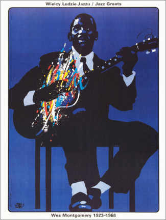 Premiumposter  Wes Montgomery 1923 - 1968 - Entertainment Collection