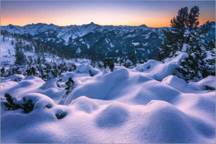 Premiumposter Winter landscape in the mountains