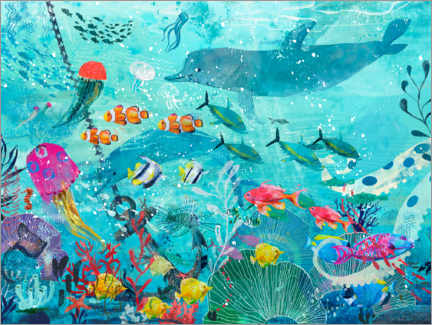 Canvastavla  Colorful underwater world - Kidz Collection