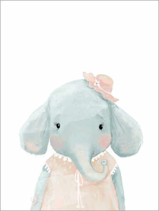 Akrylglastavla  Miss Elephant - Kidz Collection