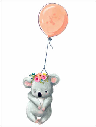 Premiumposter  Koala with balloon - Kidz Collection