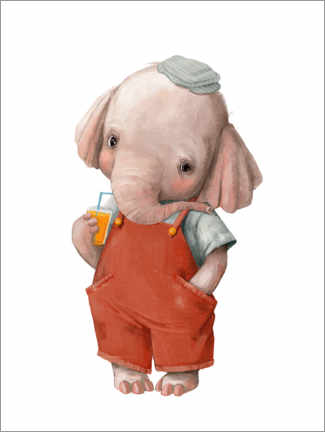 Canvastavla  Little elephant - Kidz Collection