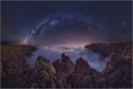 Premiumposter Milky Way over the Sea of Clouds