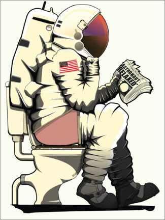 Premiumposter  Astronaut on the toilet - Wyatt9