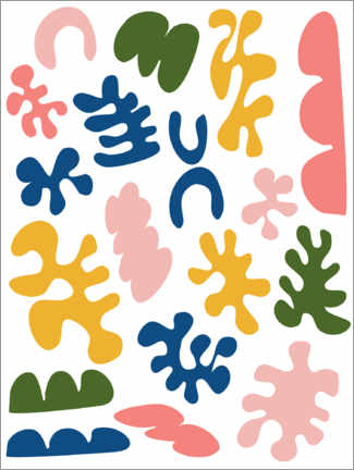 Premiumposter  New Age Matisse - apricot and birch