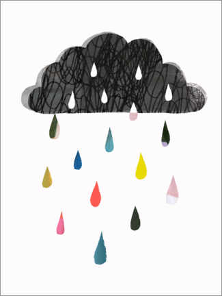Premiumposter Colorful rain cloud