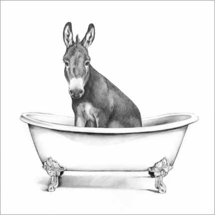 Galleritryck  Donkey in the tub - Victoria Borges