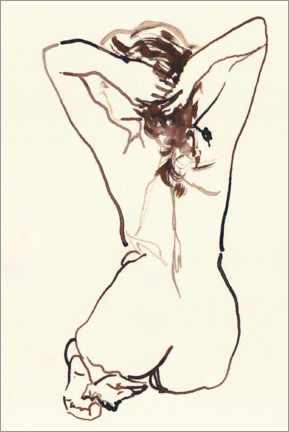 Premiumposter Female nude stretched