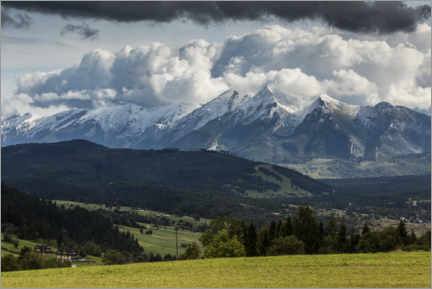 Premiumposter View of the High Tatras