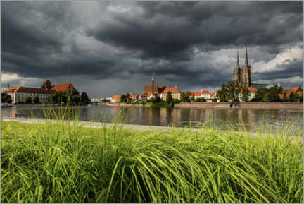 Premiumposter View of the cathedral island, Wroclaw